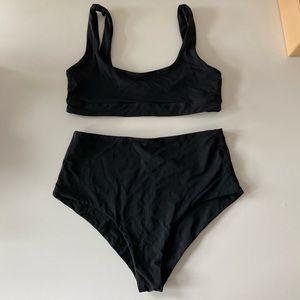 L*space High-Waisted Black Bikini